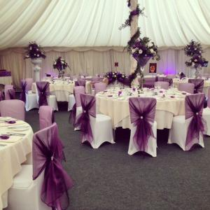 Chair covers for sale wholesaler of chair covers sa conference chair cover with purple organza chairties junglespirit Gallery