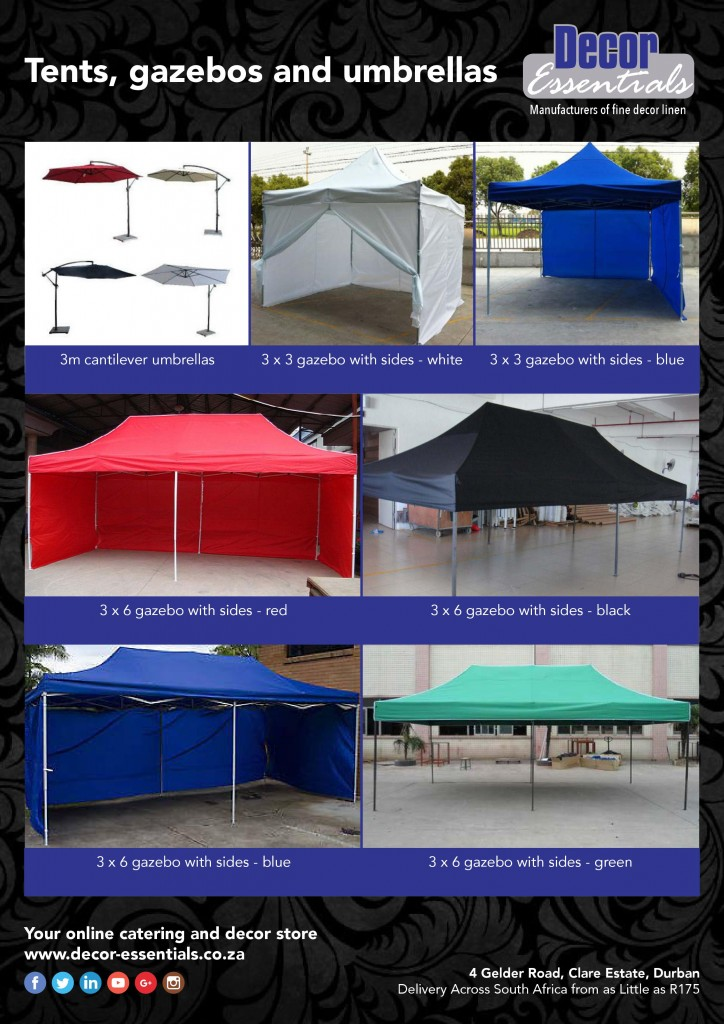 gazebos for parties and events