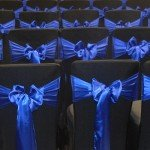 Black chair cover for conference events