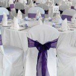 chair covers white with Round table