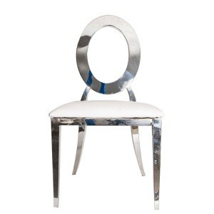 Silver Round back chairs for sale