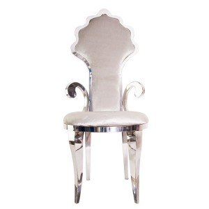 Stainless Steel Velvet chair silver