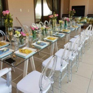 Wedding glass tables for sale