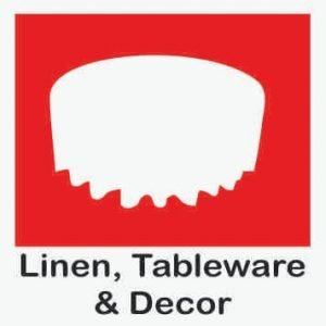 table cloths and tableware